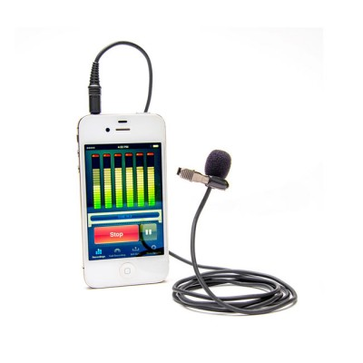 Azden Pro Studio Lapel Mic with TRRS Plug for iOS & Android