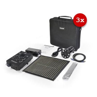 Cineroid FL400 Flexible LED Light (Set of 3, Gold Mount)