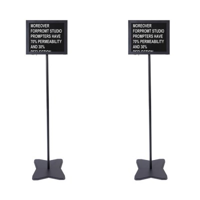 Fortinge PROM17-D-HB 17'' Dual Meeting Prompter Set (High Brightness)
