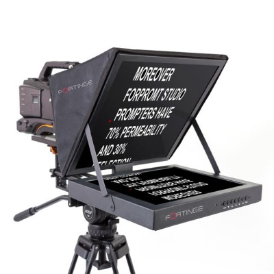 Fortinge PROS15-HB 15'' Studio Prompter Set with HDMI, VGA, BNC Input (High Brightness)