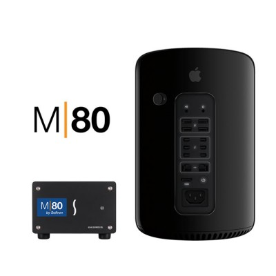 Softron M|80 -  8 x MovieRecorder 3 licenses on ONE dongle (no changes or splits) 1x 8 Input SDI Video card, 1 Thunderbolt 2 Expansion Chassis, Black TB cable