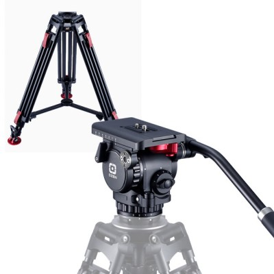 OZEN 6CF2HD 75mm AGILE 6 Mini E-Z LOAD Tripod System