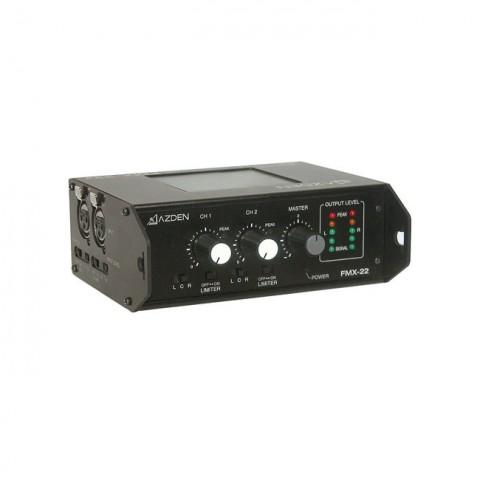 Azden Professional Portable Mixer with Two XLR Inputs