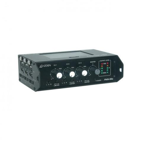 Azden Professional Portable Mixer with 3 XLR Inputs