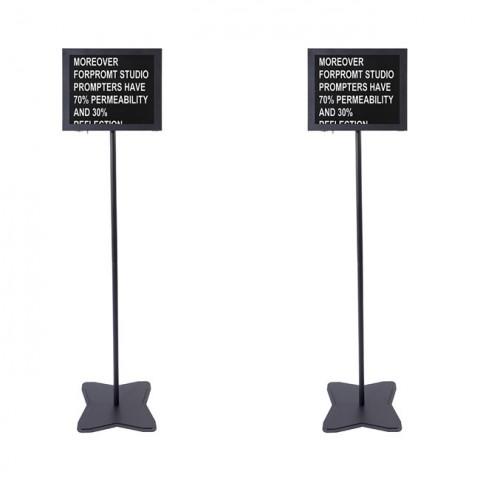 Fortinge PROM19-D-HB 19'' Dual Meeting Prompter Set (High Brightness)