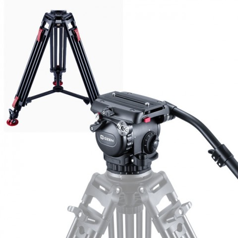 OZEN 8AL2HDS 75mm AGILE 8S S-LOC Tripod System