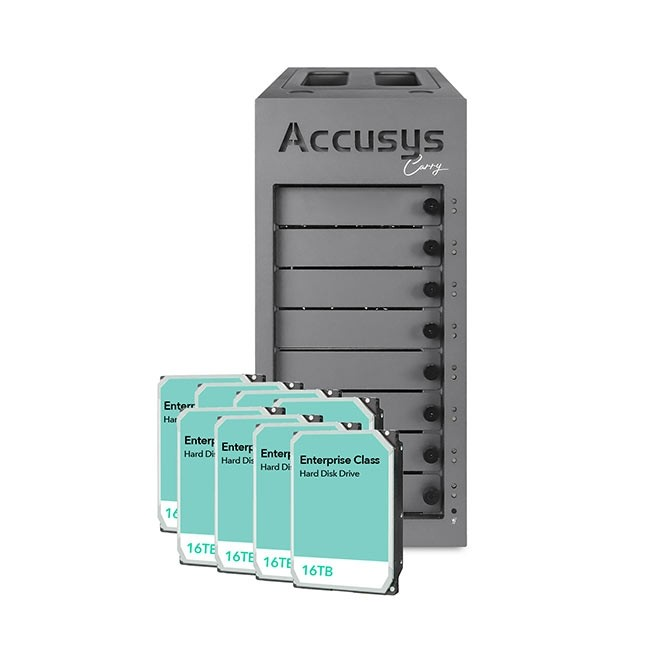 Accusys Gamma Carry (with 128TB in Enterprise Class Hard Drives)