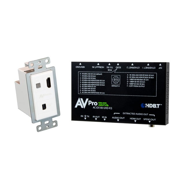 AVPro Edge Mini DisplayPort Wallplate Transmitter 100 Kit