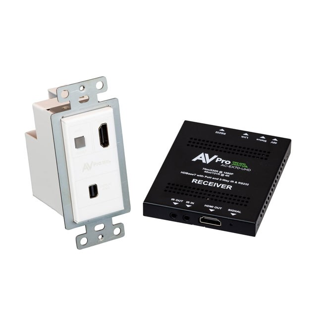 AVPro Edge Mini DisplayPort Wallplate Transmitter 70 Kit