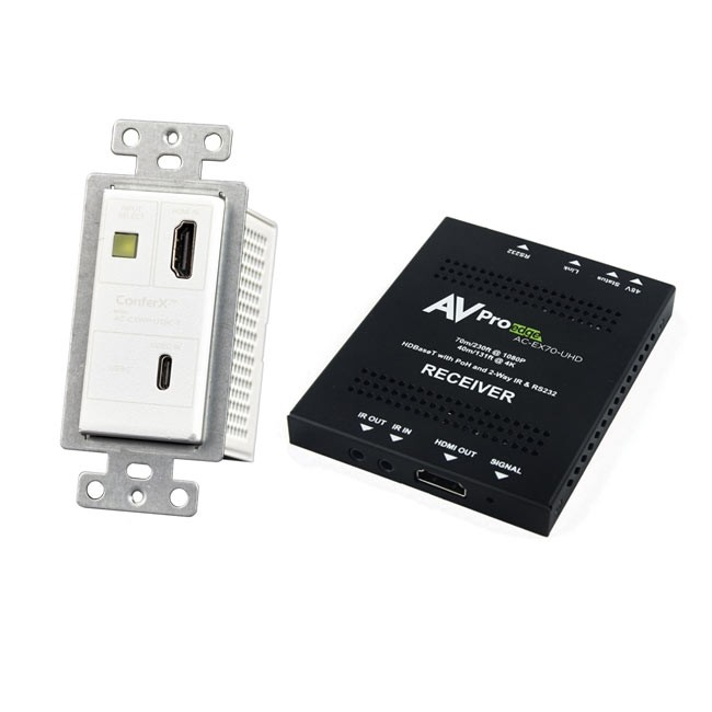 AVPro Edge ConferX HDMI or USB-C Wall Plate Transmitter