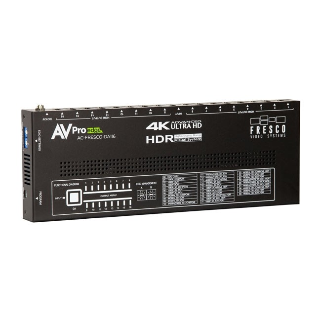 AVPro Edge AC-FRESCO-DA116 HDMI 1x16 18 GBPS Splitter