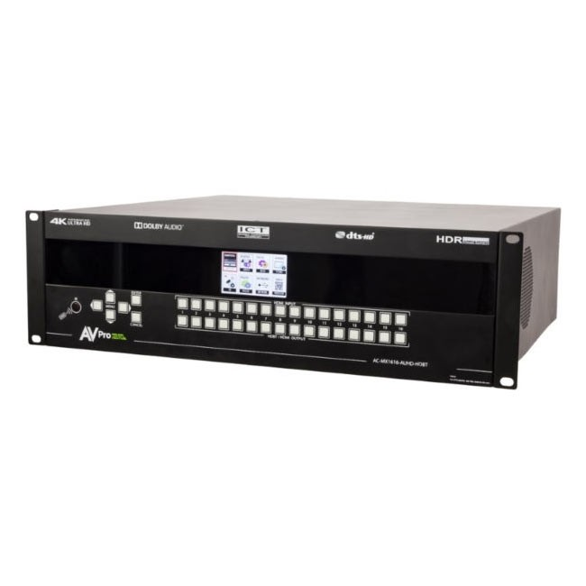 AVPro Edge MX1616-AUHD-HDBT-CHASSIS Modular Matrix Switcher (up to 16 HDMI inputs and 16 HDBaseT outputs)