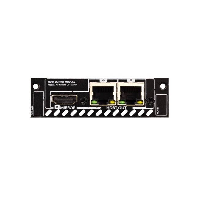 AVPro Edge MX1616-OUT-AUHD-HDBT 2x HDBT Output Card for MX1616-AUHD-HDBT-CHASSIS with 1x Mirrored HDMI