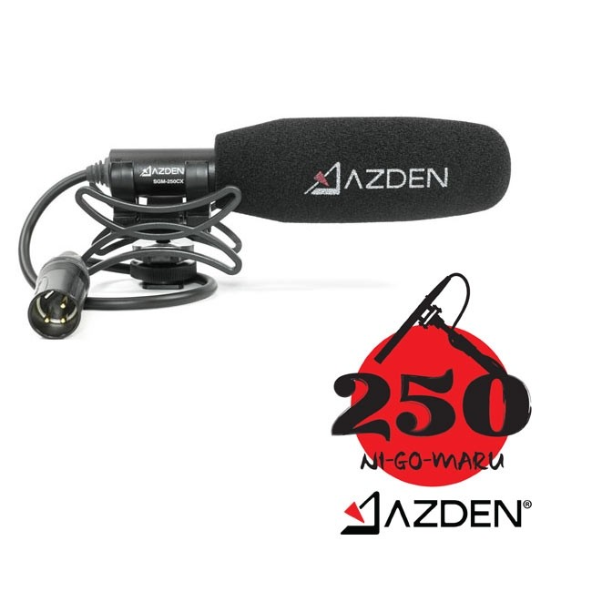 Azden Professional Compact Cine Mic with XLR Pigtail Output