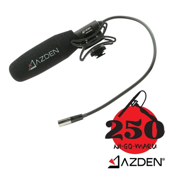 Azden Professional Compact Cine Mic with Mini-XLR Output