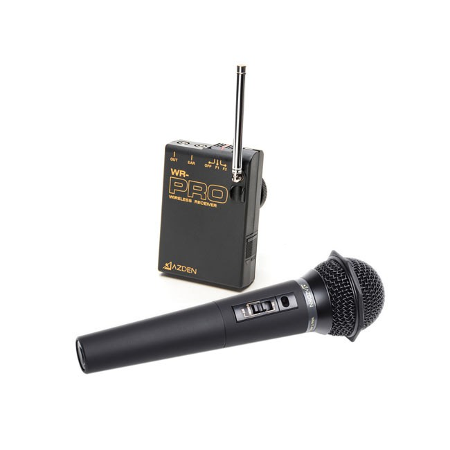 Azden VHF Wireless Mic System with Wireless Handheld Mic