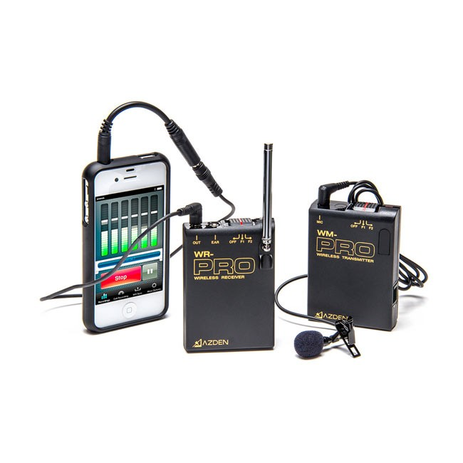 Azden VHF Wireless Microphone System with TRRS Adapter