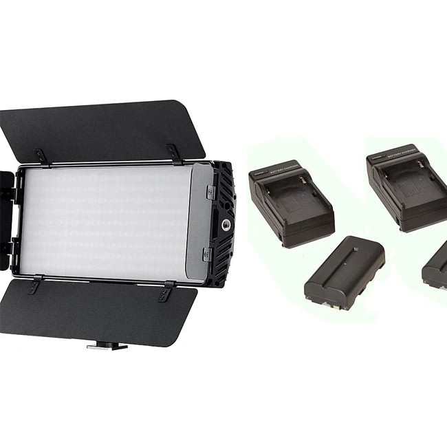 Bescor Photon Light with NPF Battery & Charger Kit