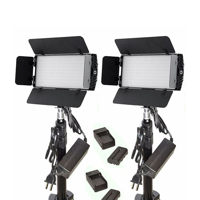 Bescor Dual Photon, Battery, Light Stand & AC Adapter Kit