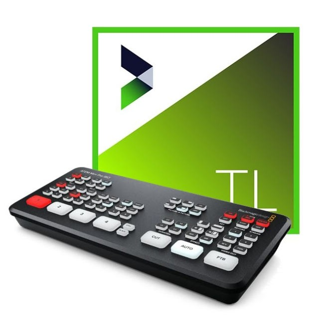 Blackmagic Design ATEM Mini Pro ISO & NewBlue Titler Live 4 Present ESD Bundle