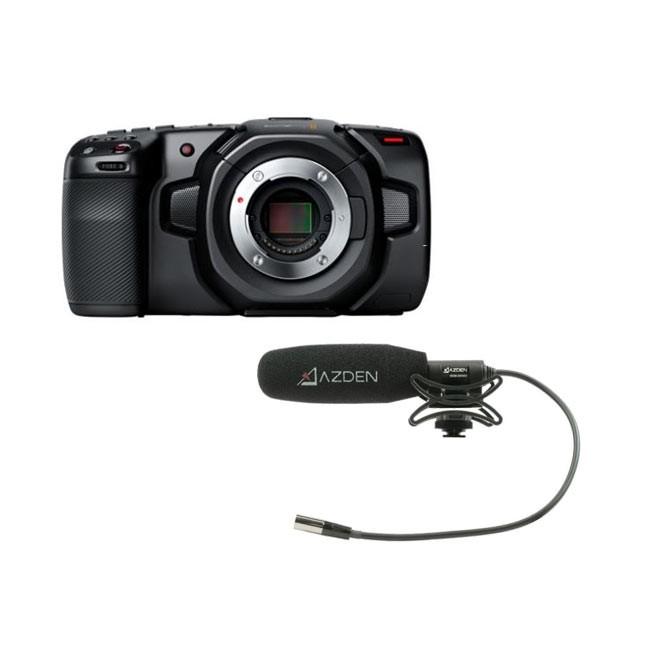 Blackmagic Design Pocket Cinema Camera 4K & Azden Compact Cine Mic Bundle