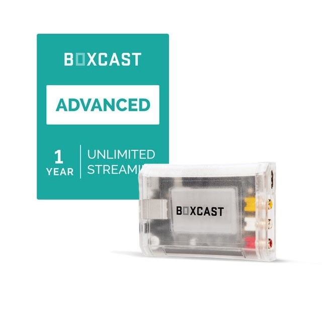 BoxCast BoxCaster & Advanced Streaming Plan Bundle
