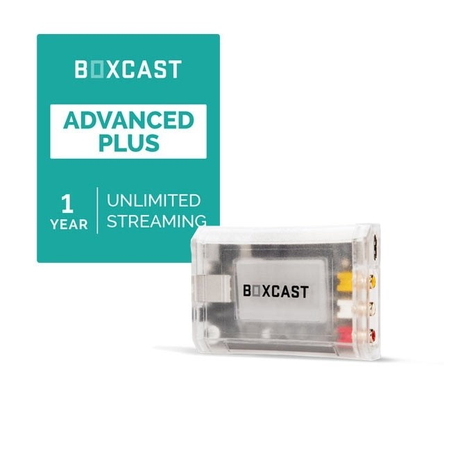 BoxCast BoxCaster & Advanced Plus Streaming Plan Bundle