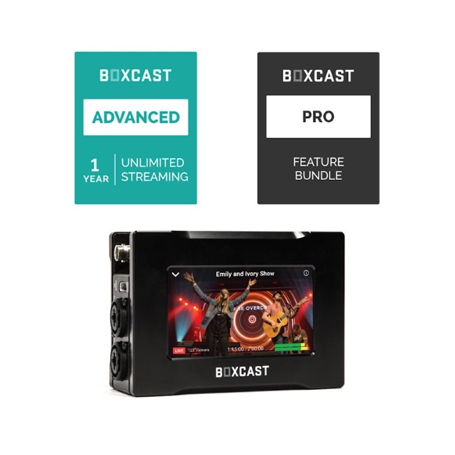 BoxCast BoxCaster Pro & Advanced Streaming Plan Bundle