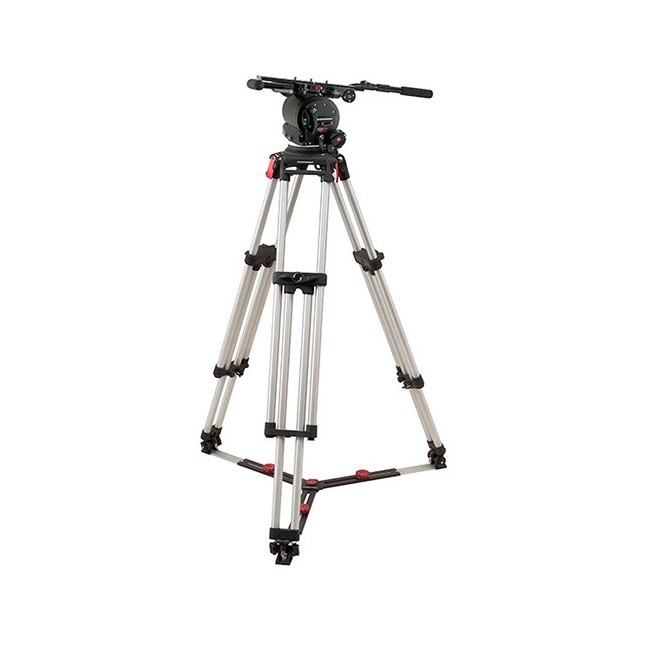 OConnor 120EX head & Cine Mitchell tripod with floor spreader