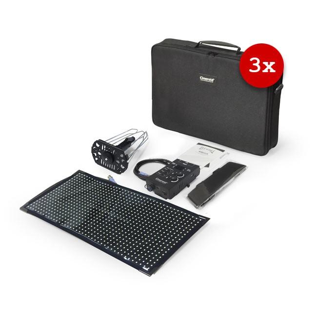 Cineroid FL800 Flexible LED Light (Set of 3, V-Mount)