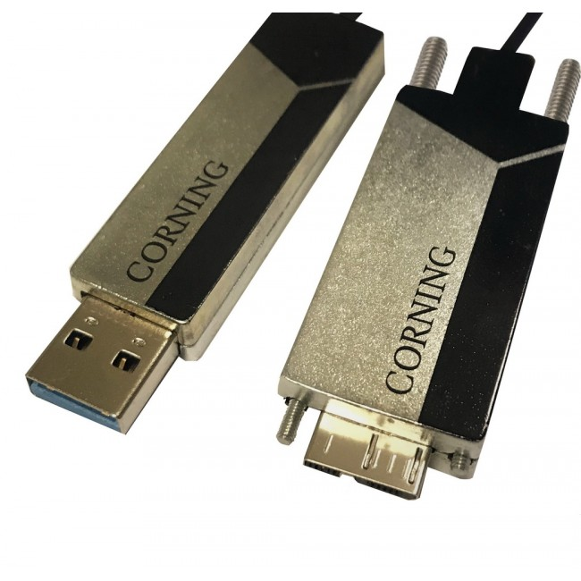 Corning USB 3 ONLY Optical Cable A TO uB, 20 Meter