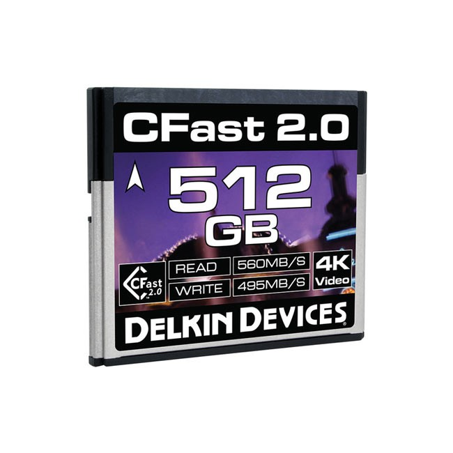 Delkin Devices CFast 2.0 Memory Card (512GB)