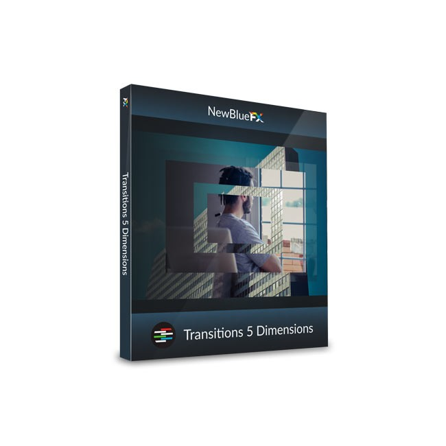 NewBlue Transitions 5 Dimensions ESD