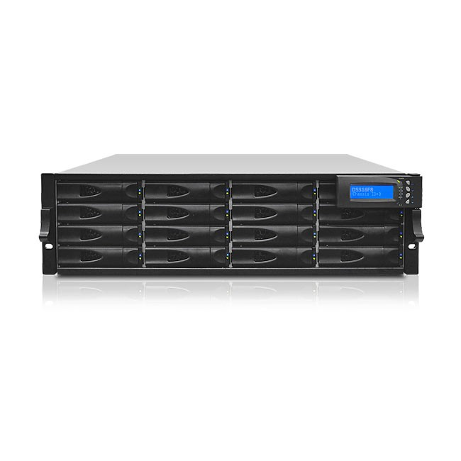 Proavio DS System: 3U RM 16 Bay 16TB (16x1TB) 4 port 16G Fibre Channel 3 Year with 1 Year ARP
