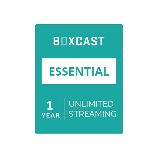 BoxCast Essential Plan (1-Year Live Streaming Subscription)