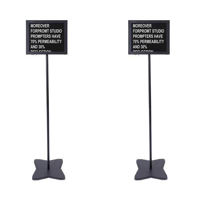 Fortinge PROM19-D-HB 19'' Dual Meeting Prompter Set (High Brightness)