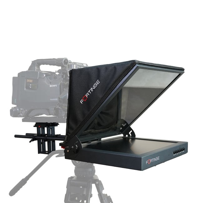 Fortinge 19'' Studio Prompter Set with HDMI, VGA, BNC, SDI Input (High Brightness)