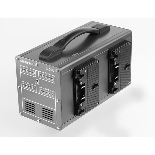 GEN ENERGY 4-Channel Simultaneous Fast Gold Mount Charger (6A)