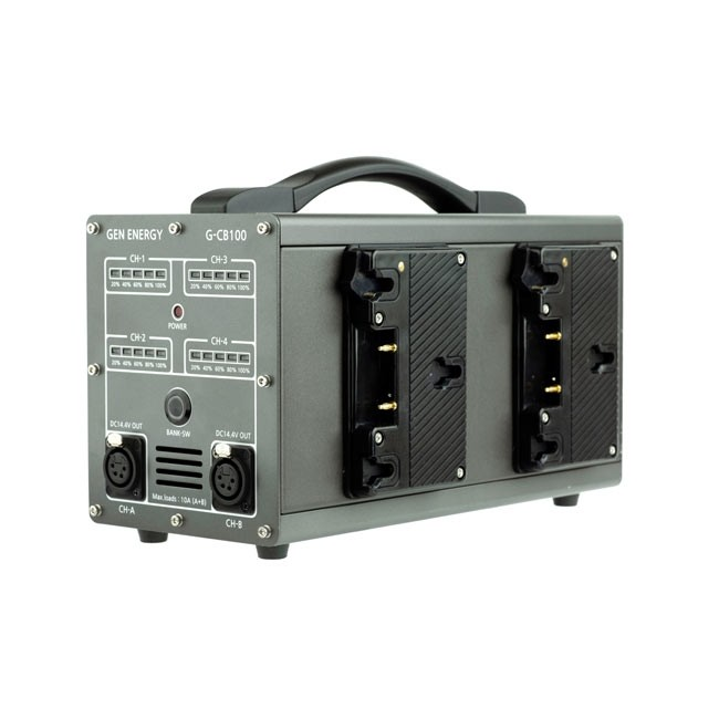GEN ENERGY 4-Channel Simultaneous Fast Gold Mount Charger (6A) and Power Station