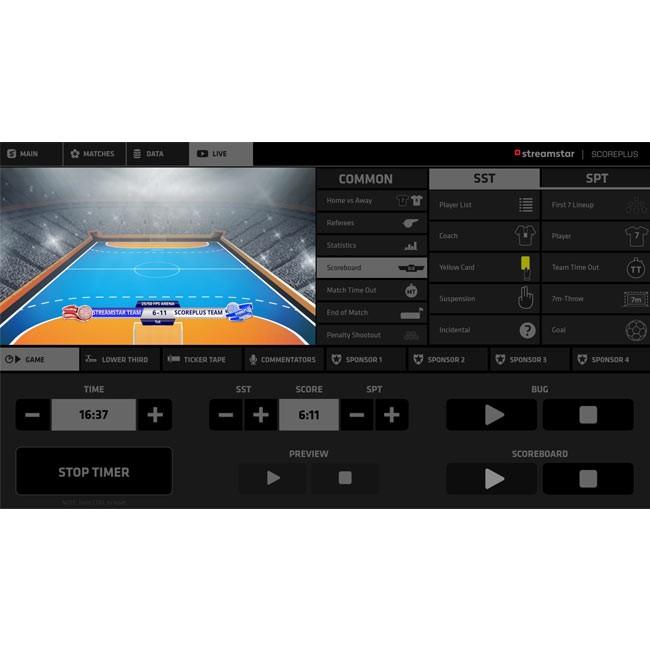 Streamstar ScorePLUS Module for Handball (Perpetual Licence)