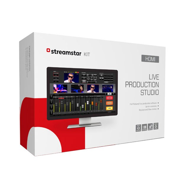 Streamstar HDMI Kit - Full-Featured, Live Production and Streaming Software including 4 HDMI Input Capture Card