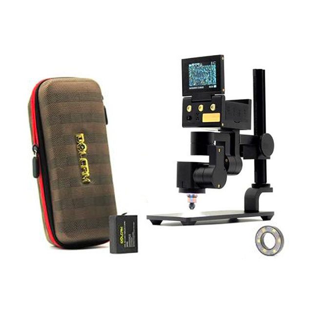 IdolCam Back To School Package - Includes 16mm Wide Angle Len, 1000X Microscopic Lens, Microscope Stand, Beauty Light, Hard Case, Battery & USB