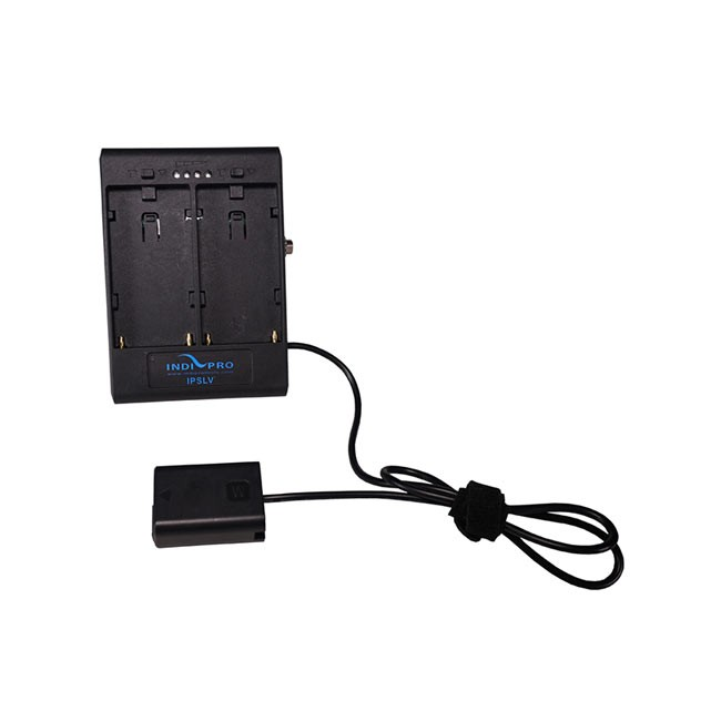 IndiPRO Tools Dual Sony L-Series Power Adapter to Sony NP-FW50 Dummy Battery with 1/4-20 Insert