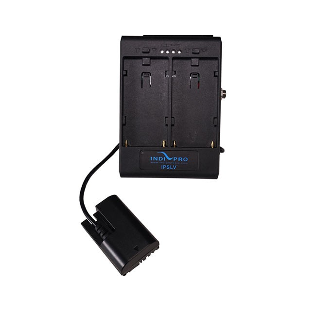IndiPRO Tools Dual Sony L-Series Power Adapter to Canon LP-E6 Dummy Battery with 1/4-20 Insert