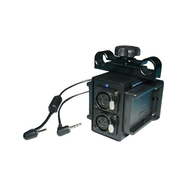IndiPRO Tools Power Grid & XLR Audio Box with Dual L-Series Plates for Blackmagic Pocket Camera