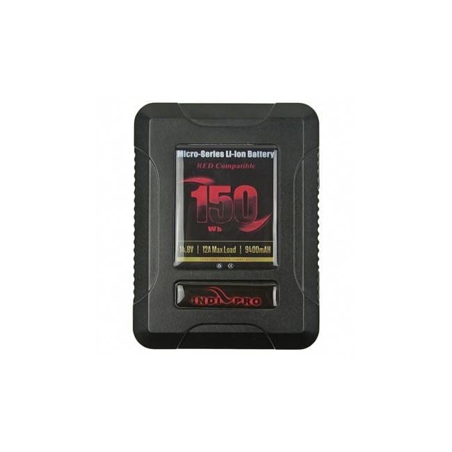 IndiPRO Tools Micro-Series 150Wh V-Mount Li-Ion Battery (RED Compatible)