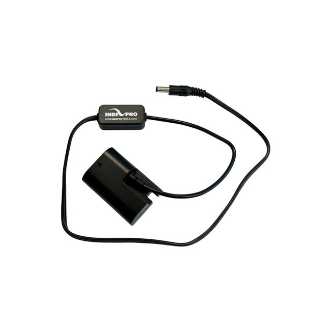 "IndiPRO Tools 2.5mm DC Power Cable to Regulated Canon LP-E6 Dummy Battery (24"")"