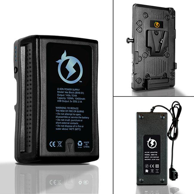 Juicebox Complete Battery Kit for Blackmagic Ursa and Ursa Mini (Includes Rapid Smart Charger & V-Mount Hardware)