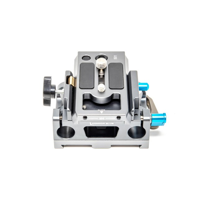 Kondor Blue 15mm Arri Baseplate Side Mounted for BMPCC4K/6K Cage