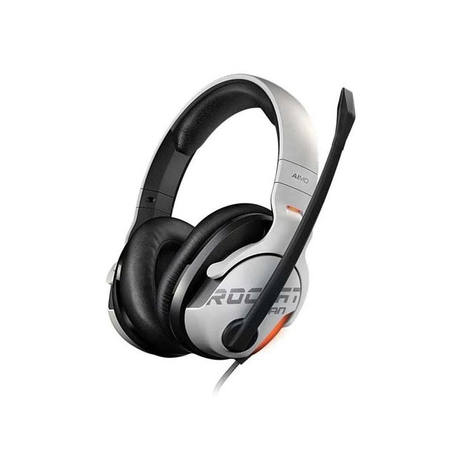 ROCCAT Khan AIMO 7.1 High Resolution RGB Gaming Headset (White)